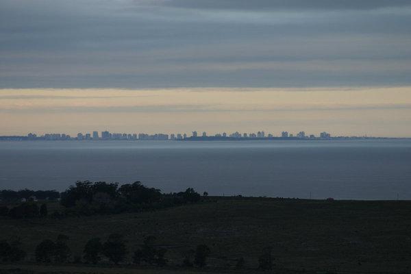 Blick von Piriapolis nach Punta del Este